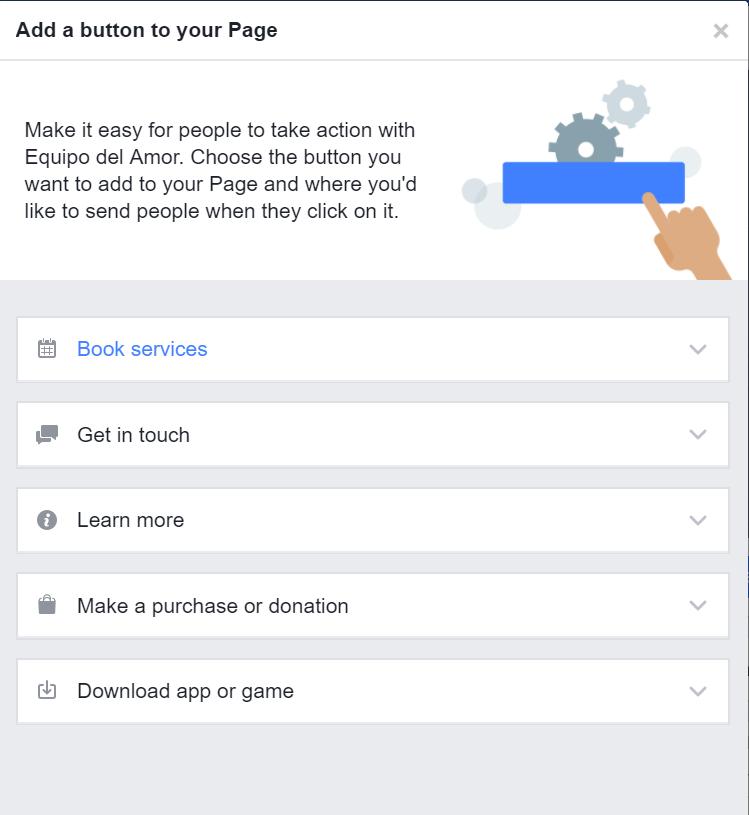 acciones botón facebook