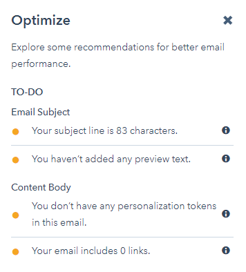 email optimization hubspot